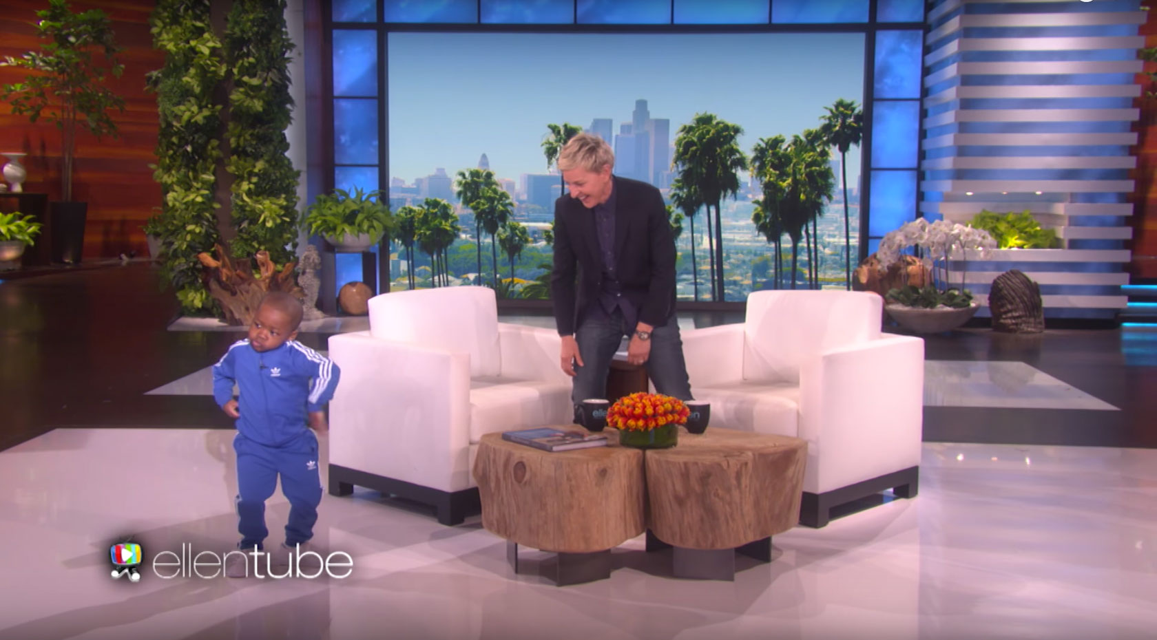 Ellen dancing kid