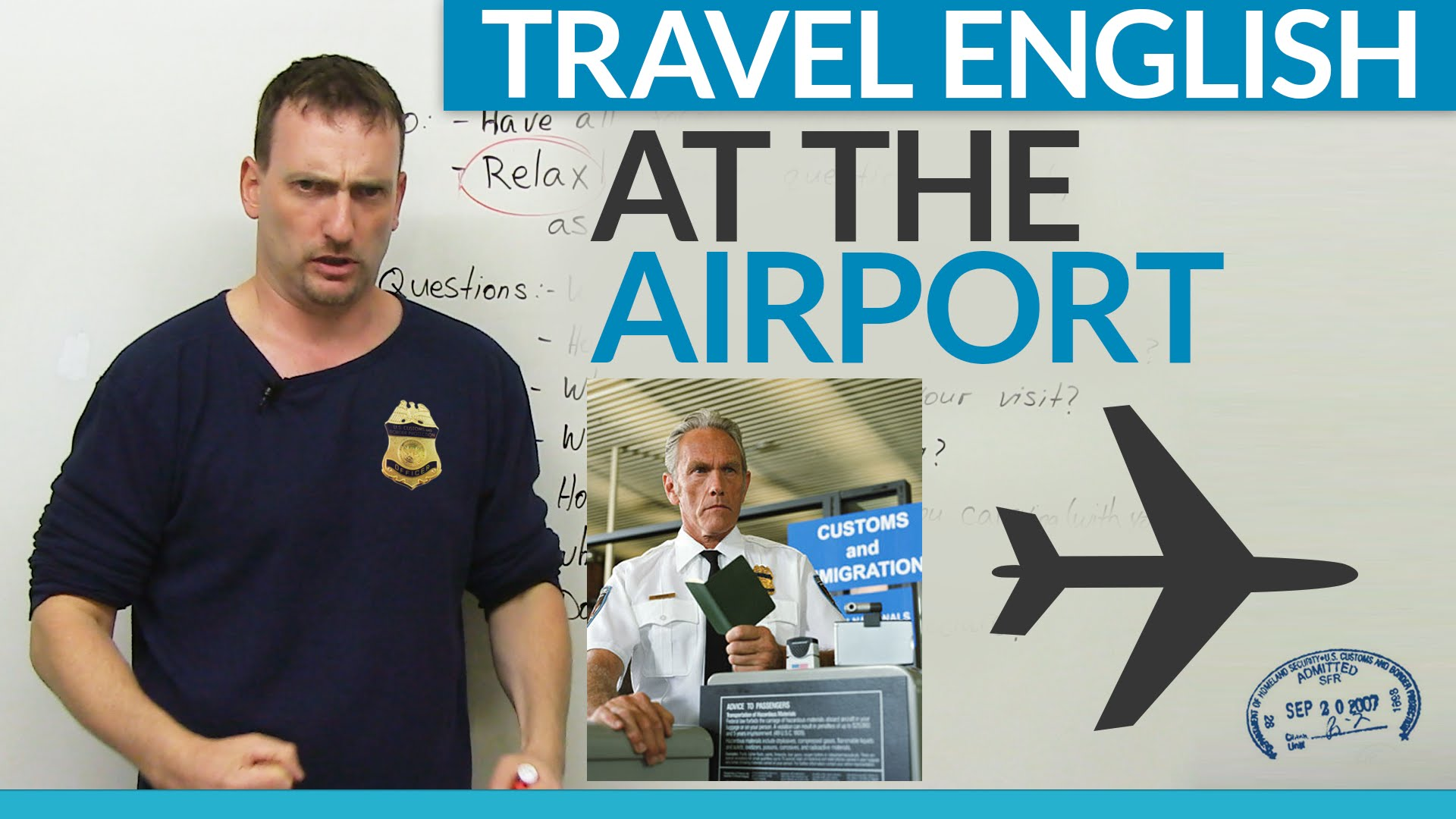 English for travel through the airport