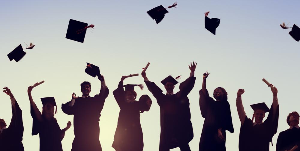Students celebrate graduating