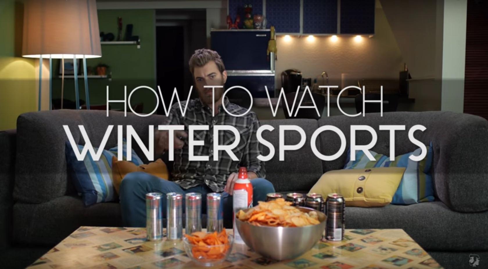 Como assitir os desportos de Inverno.