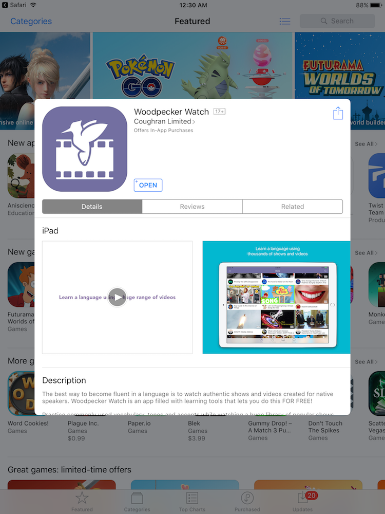 woodpecker watch app store