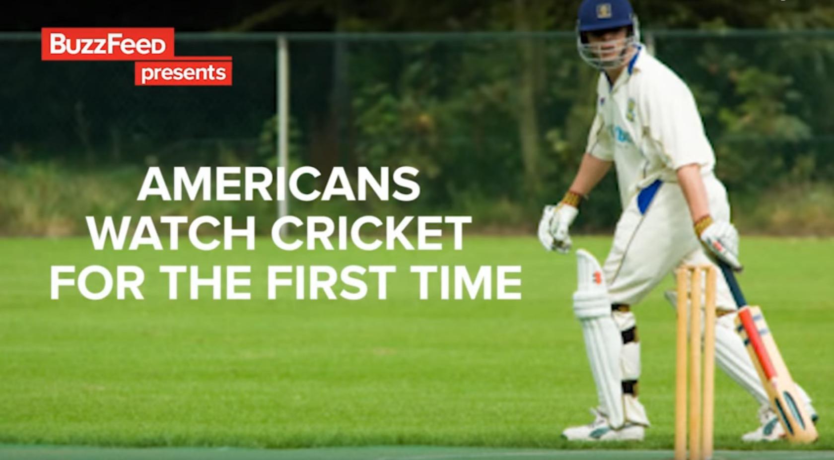 Люди смотрят крикет первый раз в своей жизни