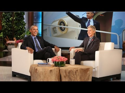 prononciation en anglais - Ellen avec Obama