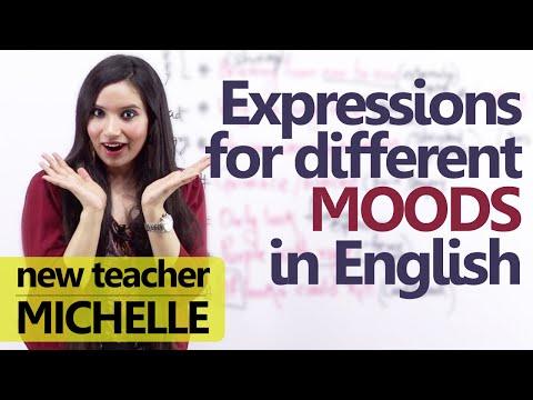 expresiones frecuentes del inglés - estados de ánimo