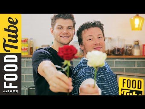 cocinando con Jamie en el día de san Valentín.