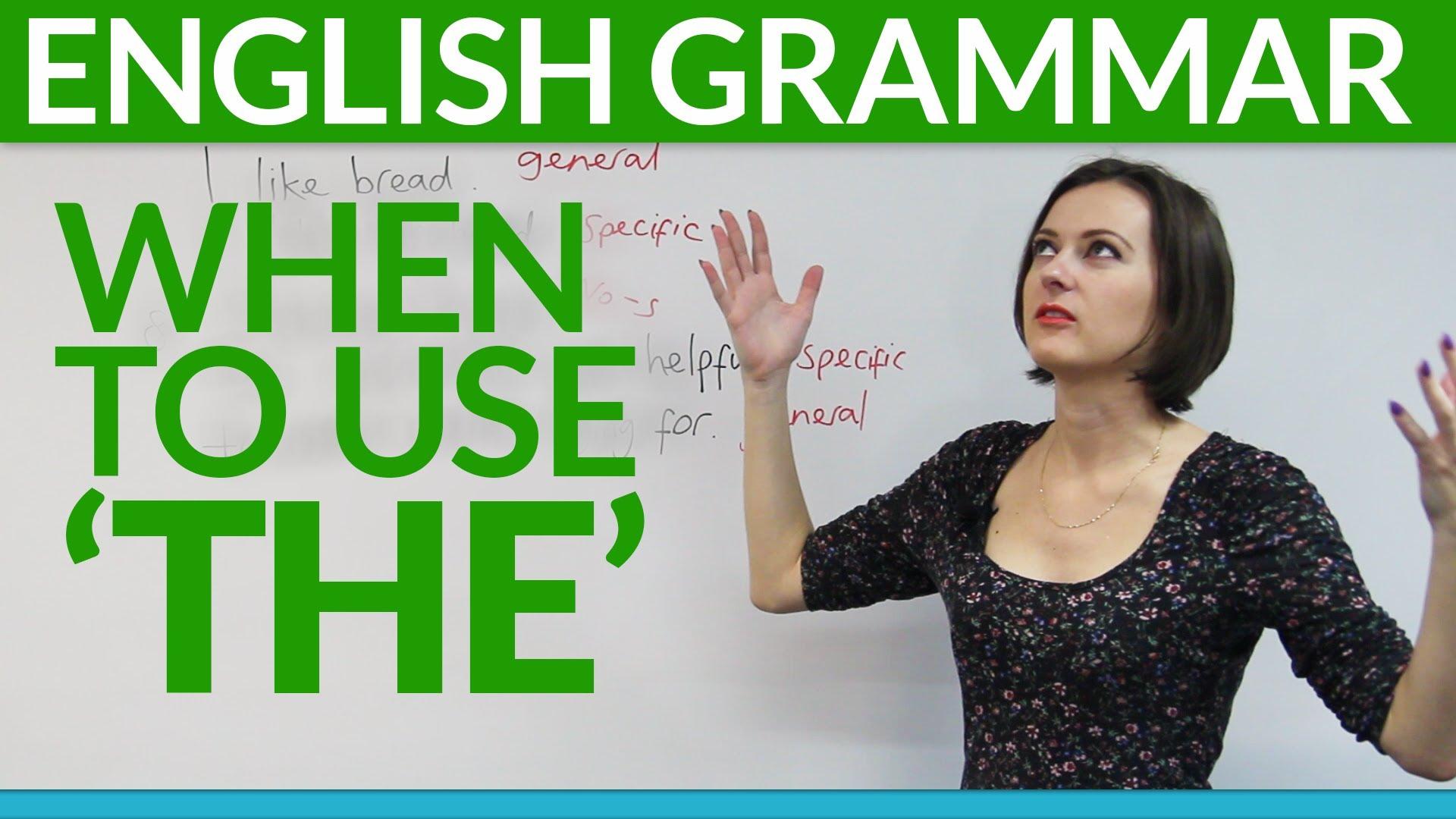 los artículos y la gramática del inglés